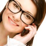 бизнес-леди на телефоне стоковые изображения rf