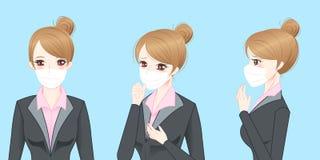 Бизнес-леди получает холод Стоковая Фотография RF