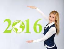 Бизнес-леди представляет 2016 Стоковая Фотография