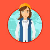 Бизнес-леди принимать глобальный бизнес Стоковое Изображение RF