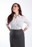 Бизнес-леди смотрит вверх Стоковые Изображения