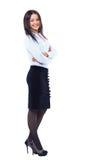 Бизнес-леди стоя внутри во всю длину Стоковое Изображение RF