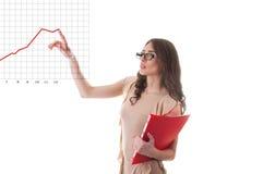 Бизнес-леди с случаем документа Стоковое фото RF