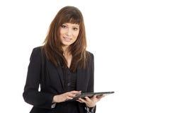 Бизнес-леди с таблеткой Стоковые Изображения RF