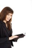 Бизнес-леди с таблеткой Стоковое фото RF