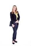 Бизнес-леди с тетрадью Стоковое фото RF