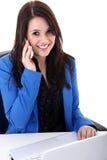 Бизнес-леди с чернью Стоковое Изображение RF