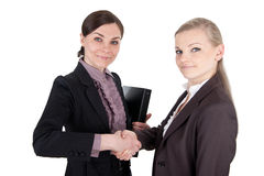 Бизнес-леди трясут руки стоковая фотография rf