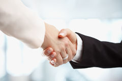 Бизнес-леди тряся руки Стоковое фото RF