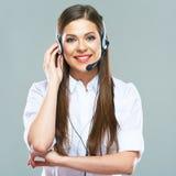 Бизнес-консультант, оператор центра телефонного обслуживания стоковая фотография
