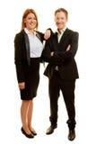 2 бизнес-консультанта в команде Стоковое фото RF