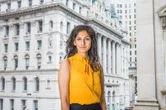 Бизнес-леди восточного индейца американская в Нью-Йорке Стоковая Фотография RF