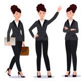 Бизнес-леди в комплекте костюма взволнованности представления Стоковое фото RF