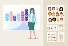 Бизнес-леди в представлении бесплатная иллюстрация