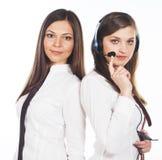 2 бизнес-леди на белой предпосылке Стоковое Изображение RF