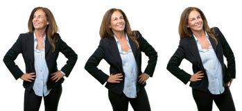 Бизнес-леди среднего возраста с длинными волосами стоковая фотография