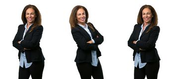 Бизнес-леди среднего возраста с длинными волосами стоковые изображения
