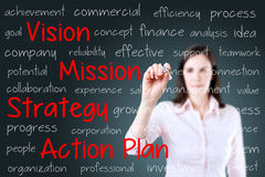 Бизнес модель сочинительства бизнес-леди background card congratulation invitation стоковые фото