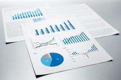 Бизнес-отчеты рост диаграмм диаграмм дела увеличил тарифы профитов Стоковые Изображения