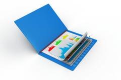 Бизнес-отчет в файле иллюстрация вектора