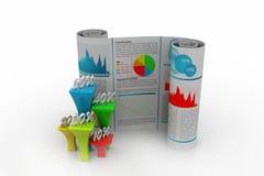 Бизнес-отчет с диаграммой процента Стоковая Фотография RF