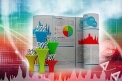 Бизнес-отчет с диаграммой процента Стоковые Изображения RF