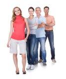 4 бизнес-партнера в вскользь одеждах Стоковое Изображение RF