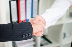 Бизнес-партнеры тряся руки Стоковые Фотографии RF