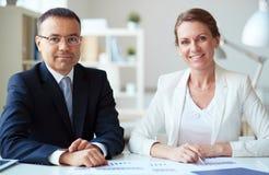 Бизнес-партнеры Стоковое фото RF