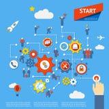 Бизнес-процесс Стоковые Фотографии RF