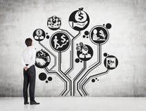 Бизнес-план в дереве формы Стоковая Фотография