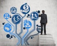 Бизнес-план в дереве формы Стоковое Фото