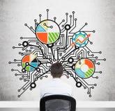 Бизнес-план на стене Стоковое фото RF