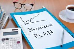 Бизнес-план растет вверх концепция Стоковое Фото