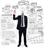 Бизнес-план сочинительства бизнесмена Стоковые Фото