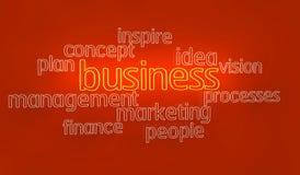 бизнес-план текста 3d Стоковые Изображения