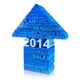 Бизнес-план для улучшения в 2014 иллюстрация штока