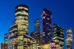 Бизнес-центр Москвы международный в центральной Москве, России Стоковые Изображения RF