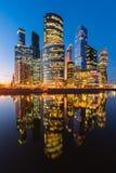 Бизнес-центр Москвы международный в центральной Москве, России Стоковая Фотография