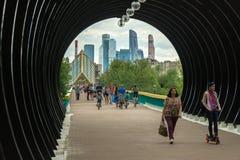 Бизнес-центр Москвы международный также известный как город Москвы Стоковое фото RF