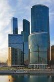Бизнес-центр MIBC Москвы международный коммерчески район вечер Стоковое Изображение
