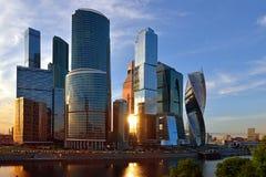 Бизнес-центр MIBC Москвы международный коммерчески район Стоковые Фото