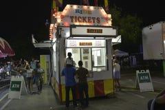 Билетная касса на фестивале стоковое изображение
