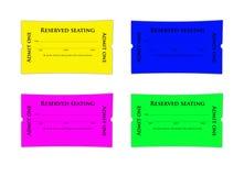 билеты назначения иллюстрация вектора