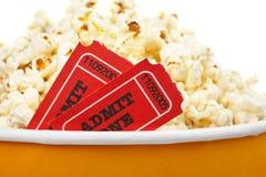 билеты попкорна детали Стоковая Фотография