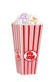 билеты попкорна кино ведра Стоковое Изображение RF