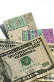 билеты счетов стоковое изображение