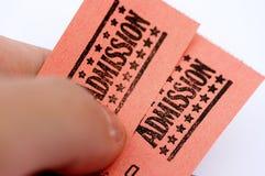билеты допущения Стоковое фото RF