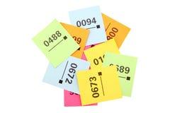 билеты raffle стоковые изображения rf
