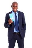 Билет воздуха бизнесмена стоковое фото
